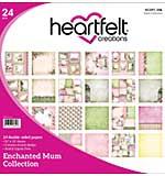 Heartfelt Double-Sided Paper Pad 12x12 24pk - Enchanted Mum