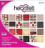 SO: Heartfelt Double-Sided Paper Pad 12x12 24pk - All Glammed Up