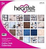 Heartfelt Double-Sided Paper Pad 12x12 24pk - Coffee Talk