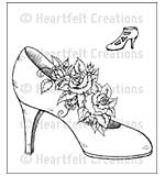 Heartfelt Creations Cling Rubber Stamp Set 5x6.5 - Heels and Roses