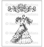 Heartfelt Creations Cling Rubber Stamp Set 5x6.5 - All Dressed Up