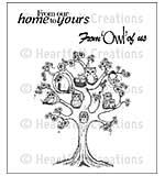 Heartfelt Creations Cling Rubber Stamp Set 5x6.5 - Sugar Hollow Tree