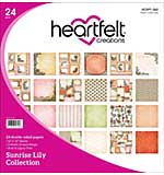 Heartfelt Double-Sided Paper Pad 12x12 24pk - Sunrise Lily (SL16)