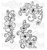 Heartfelt Creations Cling Rubber Stamp Set 5x6.5 - Sunrise Lily Swirls (SL16)