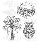 SO: Heartfelt Creations Cling Rubber Stamp Set 5x6.5 - Sunrise Lily Bouquet (SL16)
