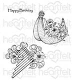Heartfelt Creations Cling Rubber Stamp Set 5x6.5 - Sunrise Lily Flute (SL16)