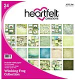 SO: Heartfelt Creations - Winking Frog 12x12 Double-Sided Paper Pad (WF16) 24pk