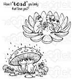 Heartfelt Creations - Flirting Frogs (WF16 Cling Rubber Stamp Set)