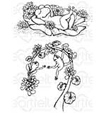 Heartfelt Creations - Winking Frogs (WF16 Cling Rubber Stamp Set)