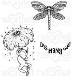 Heartfelt Creations - Froggy Hangout (WF16 Cling Rubber Stamp Set)