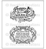 Heartfelt Creations - Prayer For The Day (WF16 Cling Rubber Stamp Set)