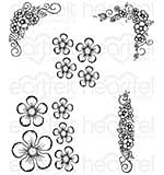 Heartfelt Creations - Berry Blossoms (BB16 Cling Rubber Stamp Set)