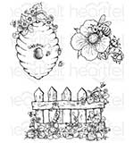 PRE: Heartfelt Creations - Sweet As Honey (BB16 Cling Rubber Stamp Set)