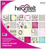 BO16 Heartfelt Creations Double-Sided Paper Pad 12x12 24pk - Botanic Orchid, 12 Designs, 2 of each