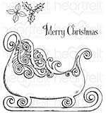 Heartfelt Creations Cling Rubber Stamp Set - Ornate Sleigh (CS16)