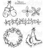 Heartfelt Creations Cling Rubber Stamp Set - Celebrate The Season (CS16)