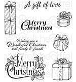 Heartfelt Creations Cling Rubber Stamp Set - Gift Wrapped Presents (CS16)