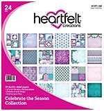 Heartfelt Creations Double-Sided Paper Pad 12x12 24pk - Celebrate The Season, 12 Designs, 2 Each (CS16)