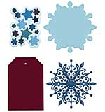 Heartfelt Creations Cut and Emboss Dies - Snow Kissed Flakes and Tag (SK16)