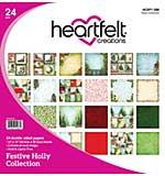 Heartfelt Creations Double-Sided Paper Pad - Festive Holly (12X12 24pk)