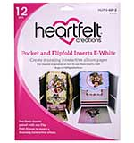 Heartfelt Creations Pocket and Flipfold Inserts - E-White