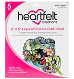 Heartfelt Creations Layered Card - 6X6 Black with Circles