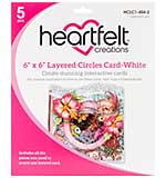 Heartfelt Creations Layered Card - 6X6 White with Circles