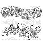 Heartfelt Creations - Butterfly Dreams Border - Cling Rubber Stamp Set