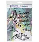 IndigoBlu - Plume Cling Mounted Stamp