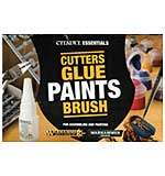 SO: Warhammer Citadel Essentials Set, Cutters, Glue, Paints and Brush for Building and Painting