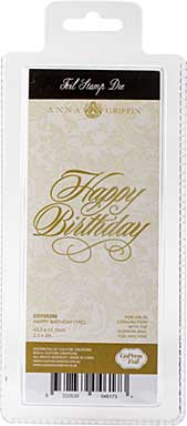SO: Couture Creations GoPress Anna Griffin Hotfoil Plate - Happy Birthday
