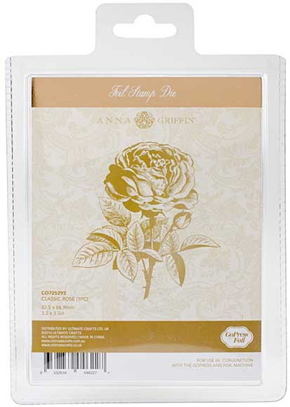 Couture Creations GoPress Anna Griffin Hotfoil Plate - Classic Rose