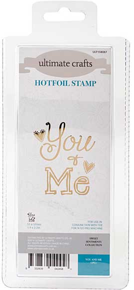 GoPress Hotfoil Plate Sweet Sentiments - You and Me