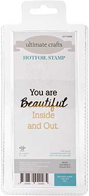 SO: GoPress Hotfoil Plate Sweet Sentiments - Beautiful Inside and Out