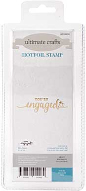 GoPress Hotfoil Plate Sweet Sentiments - Youre Engaged