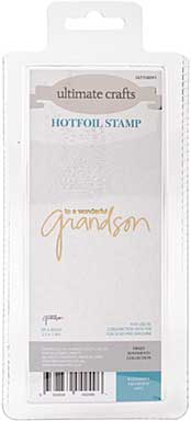 GoPress Hotfoil Plate Sweet Sentiments - Wonderful Grandson