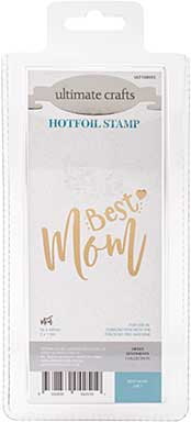 GoPress Hotfoil Plate Sweet Sentiments - Best Mom