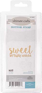 GoPress Hotfoil Plate Sweet Sentiments - Sweet Birthday Wishes