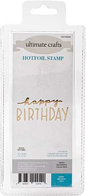 GoPress Hotfoil Plate Sweet Sentiments - Happy Birthday