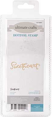 GoPress Hotfoil Plate Sweet Sentiments - Sweetheart