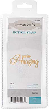 GoPress Hotfoil Plate Sweet Sentiments - Youre Amazing