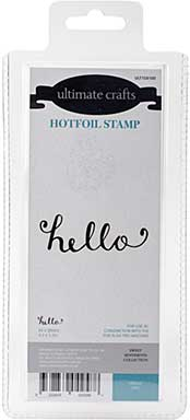 GoPress Hotfoil Plate Sweet Sentiments - Hello