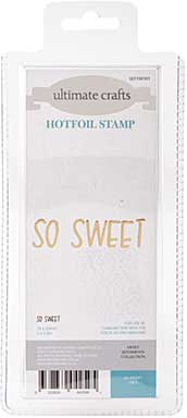 GoPress Hotfoil Plate Sweet Sentiments - So Sweet