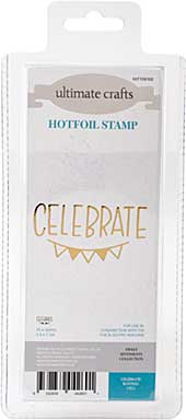 GoPress Hotfoil Plate Sweet Sentiments - Celebrate Bunting