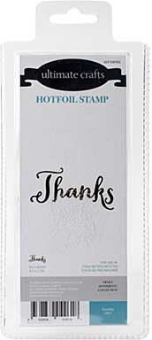 GoPress Hotfoil Plate Sweet Sentiments - Thanks