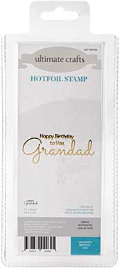 GoPress Hotfoil Plate Sweet Sentiments - Grandads Birthday