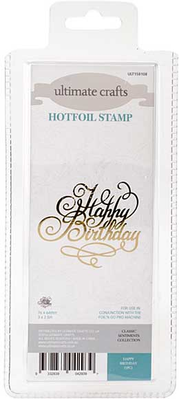 GoPress Hotfoil Plate Classic Sentiments - Happy Birthday