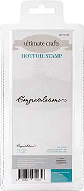 GoPress Hotfoil Plate Classic Sentiments - Congratulations