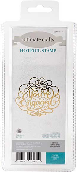 GoPress Hotfoil Plate Classic Sentiments - Youre Engaged