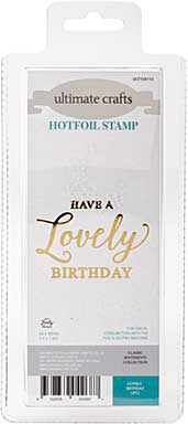 GoPress Hotfoil Plate Classic Sentiments - Lovely Birthday